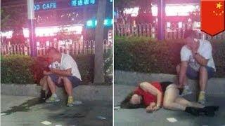 Chinese na lalake, kumuha ng video habang hinihipuan ng isang lalake ang isang lasing na babae!