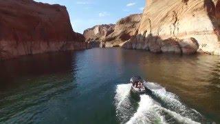 Lake Powell filmed from Phantom Drone