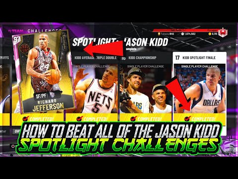 HOW TO BEAT ALL OF THE JASON KIDD SPOTLIGHT CHALLENGES AND GET PINK DIAMOND RICHARD JEFFERSON!!
