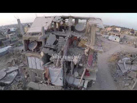 تصوير جوي دمار منطقة الشعف - Aerial photography /Al Shojaeia - Gaza