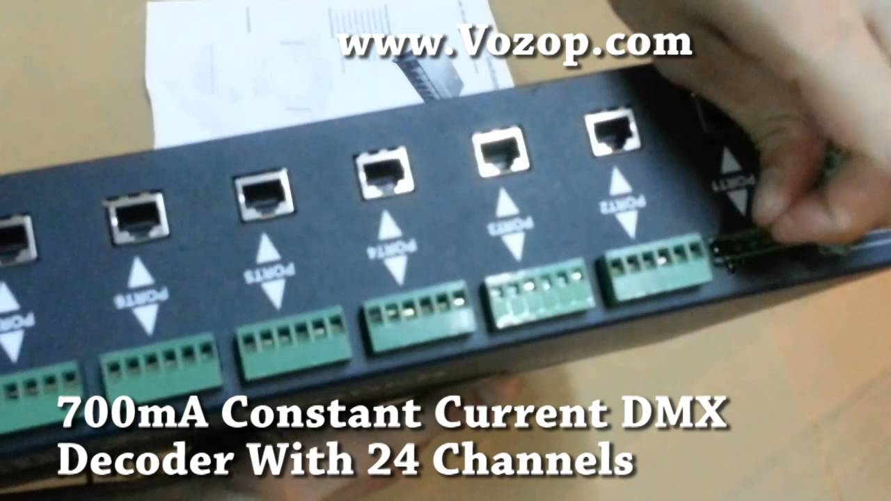 700mA Constant Current DMX Decoder With 24 Channels led decoders