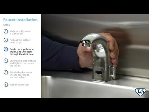 Above-Deck Sensor Faucets: Installing And Making Adjustments