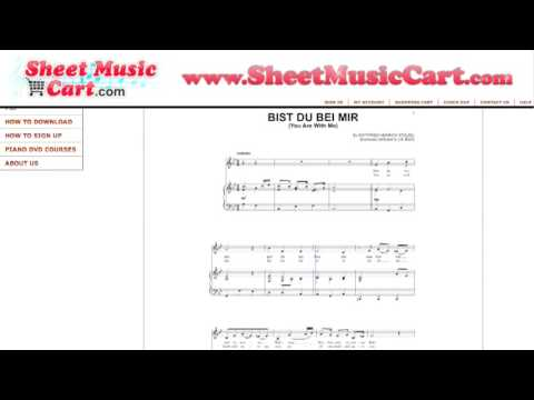 Bist Du Bei Mir (You are with me) Sheet Music