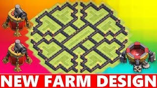 Clash Of Clans | EPIC TOWN HALL 9 (TH9) FARMING BASE DEFENSE! NEVER SEEN BEFORE! 2015