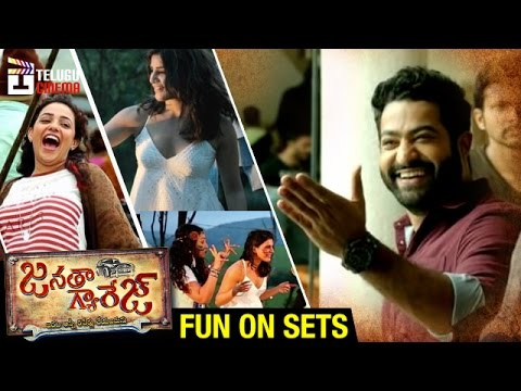 Janatha Garage Movie Team FUN ON SETS | Jr NTR | Mohanlal | Samantha | Nithya Menen | Kajal