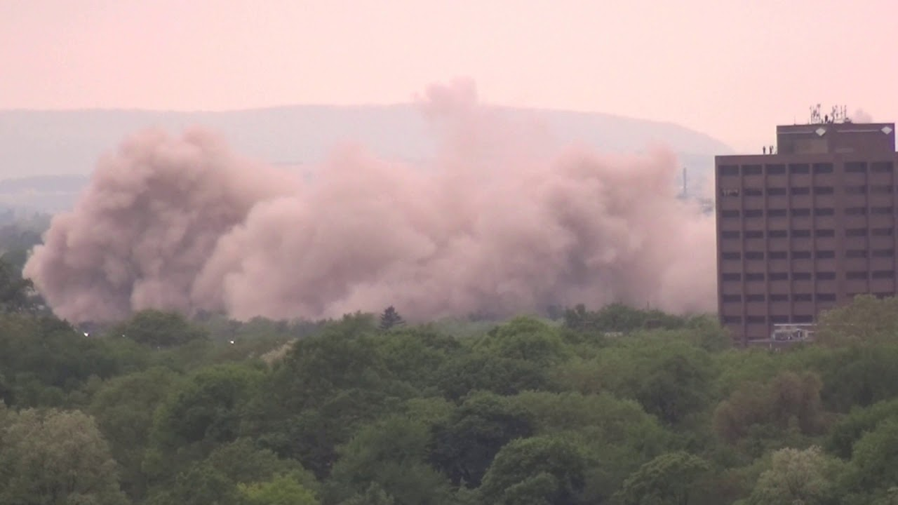 Historic Martin Tower's 21-Story Bethlehem Steel Headquarters Is Imploded