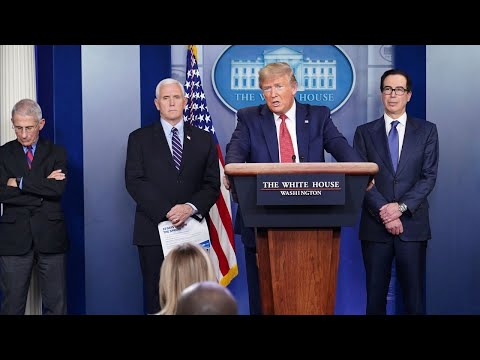 WATCH: President Trump And The Coronavirus Task Force Brief Reporters
