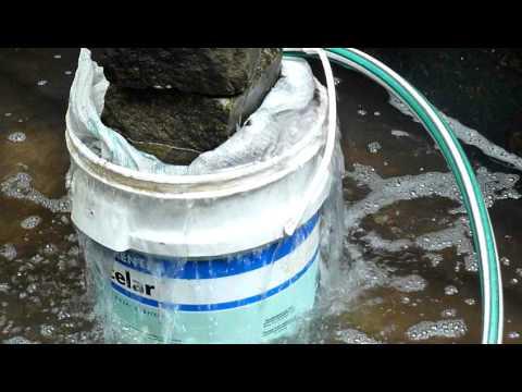 Filtro casero estanque con balde mov youtube for Estanques caseros