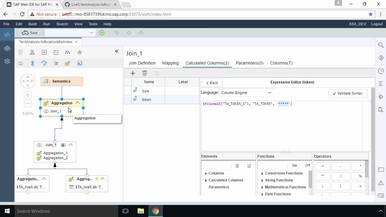 SAP HANA Academy - Live5: Create Calculation View : Joins & Testing