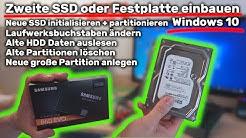 Zweite Festplatte oder SSD einbauen in Windows 10 - super einfach einrichten