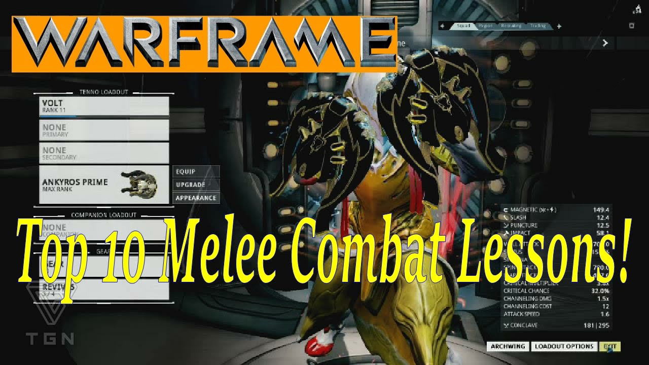 Warframe best weapons 2015 - Warframe Learn From The Best Top 10 Lessons For Melee Combat