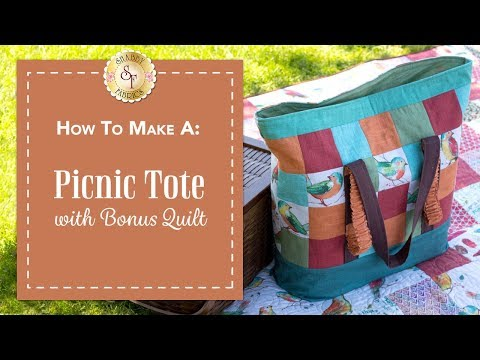 How to Make a Picnic Tote | a Shabby Fabrics Sewing Tutorial