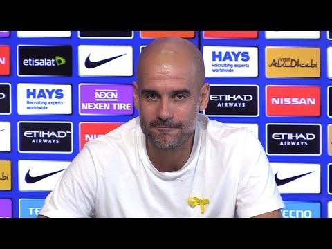 Pep guardiola full pre-match press conference - manchester city v swansea - premier league