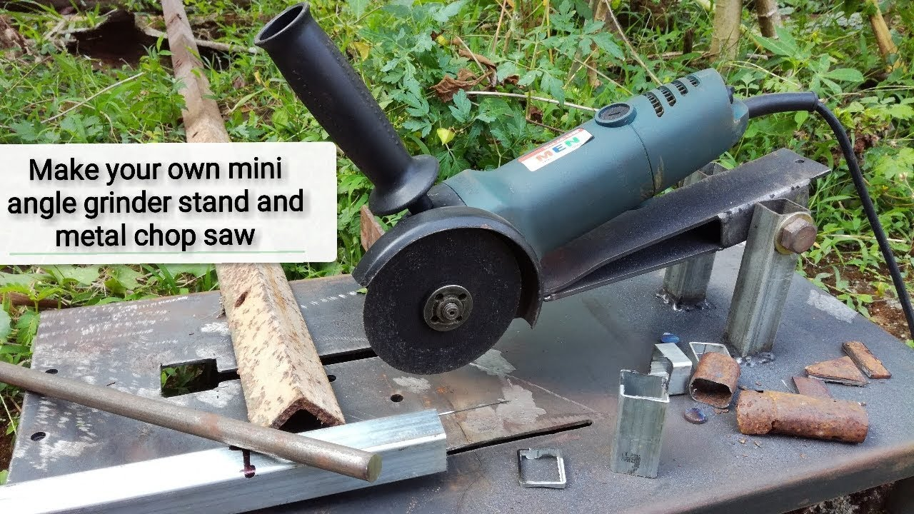 How To Make Your Own Tree Stand Make Your Own Mini Angle Grinder Stand And Metal Chop Saw