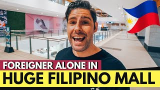 FOREIGNER ALONE in this INSANE NEW FILIPINO MALL in Manila??? Where are the people?