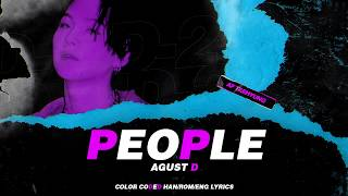 Gambar cover Agust D - People (사람) (Color Coded Lyrics Han/Rom/Eng)