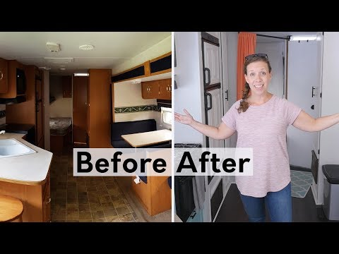 RV Renovation Tour: before and after