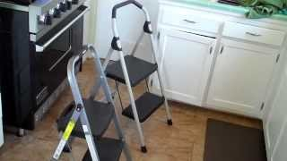 Comparing my new Gorilla 2-step ladder with my previous ladder by Rubbermaid. Discusses the reasons I prefer the Gorilla, and
