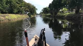 Nucanoe Frontier 12 with Honda GX35 1.3 hp and a New Pitched 2 Blade Prop