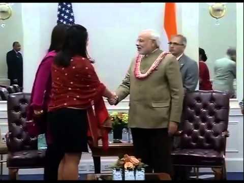 PM Narendra Modi meets House of representative member Tulsi Gabbard