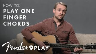 learn how to play one finger chords on an acoustic guitar | fender play | fender
