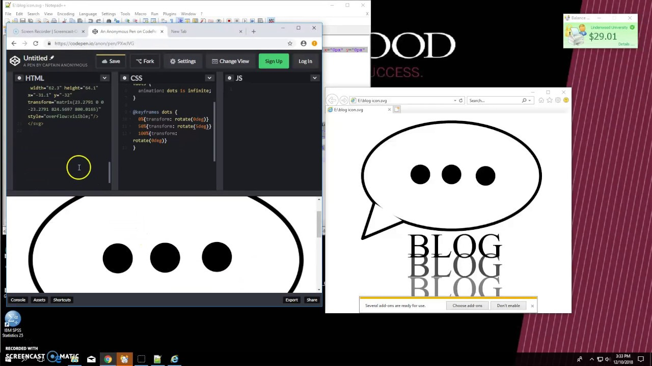 Animating SVG with JWILL :)