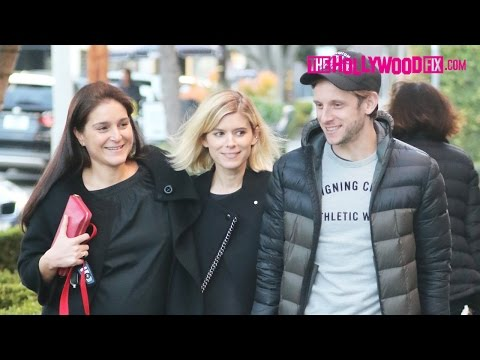 Kate Mara & Jamie Bell Couldn't Be More Thrilled To Be Engaged While Leaving Alfred Tea 1.27.17