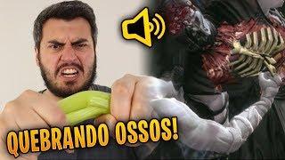 vuclip USEI COMIDA PARA IMITAR O SOM DOS FILMES E GAMES !!!!
