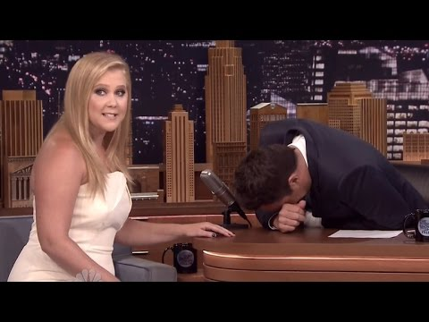 Amy Schumer Shocks Jimmy Fallon With Raunchy Jokes About His Finger
