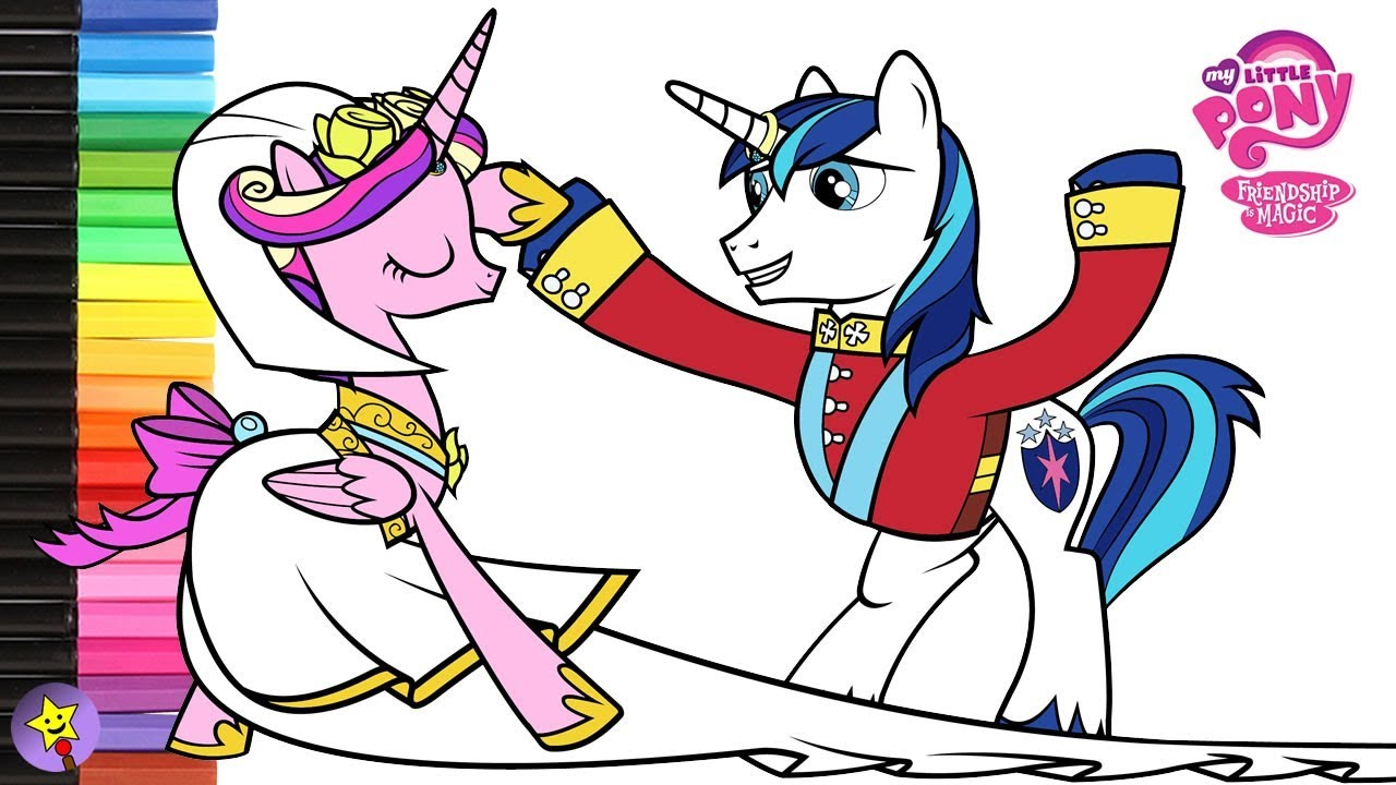 my little pony coloring pages princess cadence and shining armor - my little pony coloring book princess cadance and shining