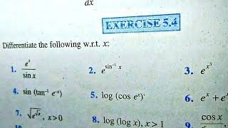 12 th (NCERT) Mathematics-DIFFRENTIATION (CALCULUS) | EXERCISE-5.4 (Solution)|Pathshala (Hindi)