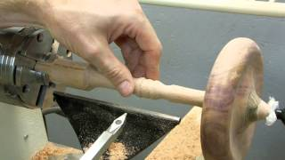 Woodturning Large Spinning Top Using Carbide Lathe Tools
