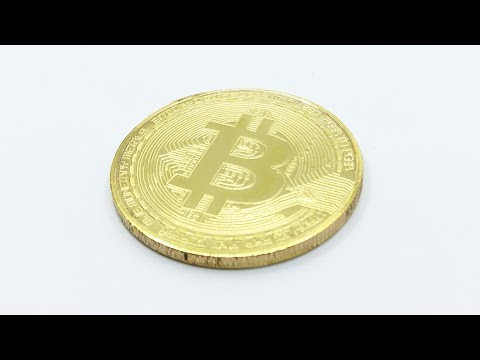 Bitcoin Coin Gold Plated Collectible【4K】