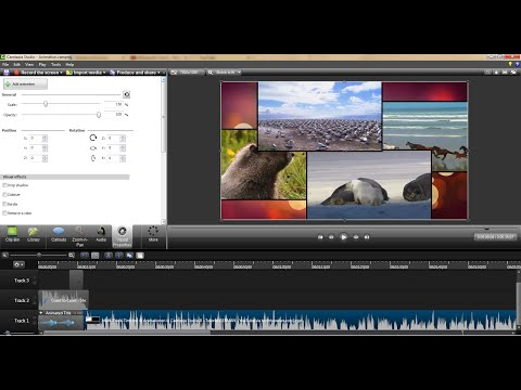 Animation การทำภาพเคลื่อนไหวใน Camtasia Studio8 เมนู Visual Properties