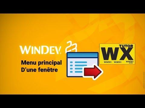 WinDev Menu Principal