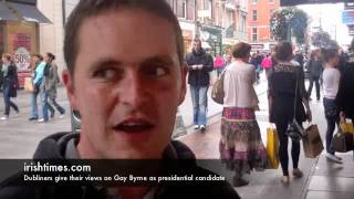 Citizens of Dublin give their views on Gay Byrne as presidential candidate