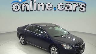 R97754JP Used 2010 Chevrolet Malibu LT FWD 4D Sedan Blue Test Drive, Review, For Sale