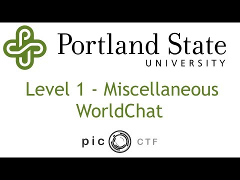 PicoCTF 2017 - WorldChat Walkthrough
