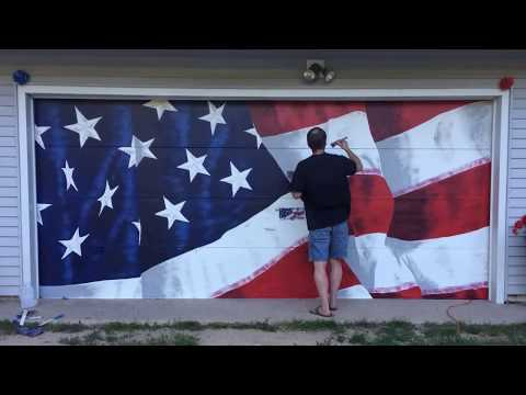 Time Lapse American Flag Painting