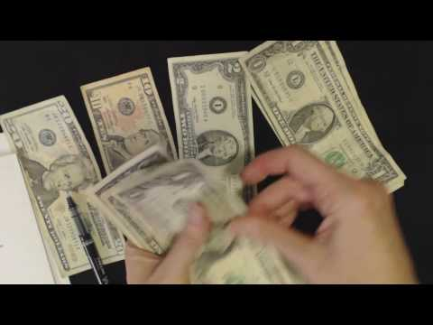 ASMR Soft Spoken ~ Bank Teller Roleplay / Counting Money (No Talking @ End)