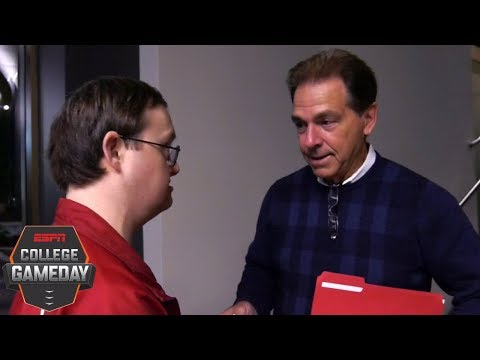 Alabama fan's memorable meeting with Nick Saban | College GameDay