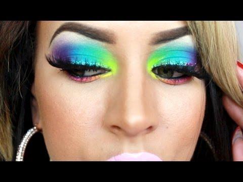 648896237ab Take Me To Brazil/Carnival Makeup Tutorial! - YouTube