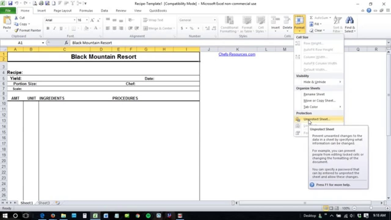 worksheet Unprotect Worksheet how to unprotect excel worksheet youtube