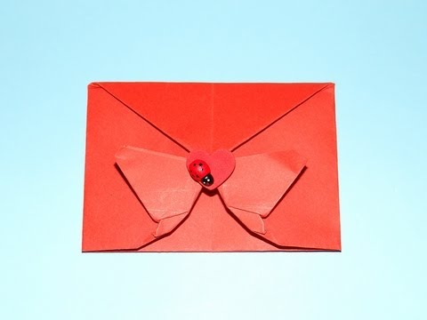 How To Make A Decorative Origami Butterfly Envelope - Valentine