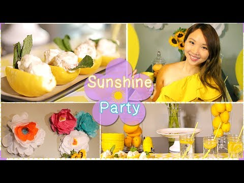 Low Calorie Chinese Honey Mayo Shrimp + Summer Party Decor