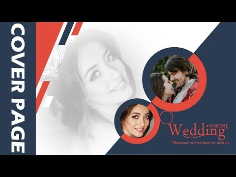 How to make wedding album cover page design in photoshop hindi tutorial thumbnail