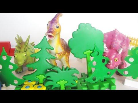 Мультики с игрушками. Машинки спасают динозавров