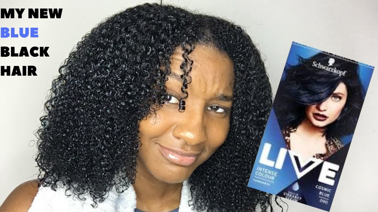 Blue Or Black Dying My Natural Hair Cosmic Blue Youtube