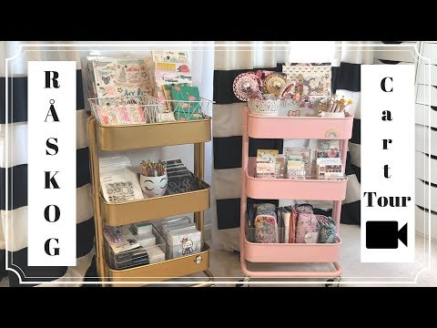 RASKOG Ikea Cart Tour, How I Organize My Planner Supplies, DIY Custom Paint