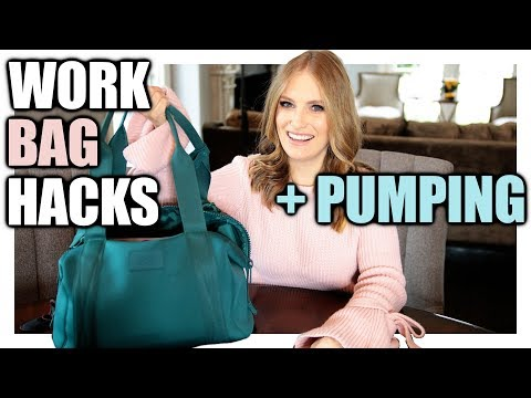 WORK BAG + PUMPING BAG HACKS!